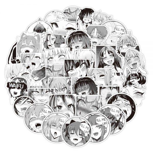 ahegao stickers 50 pcs - Ahegao Shop