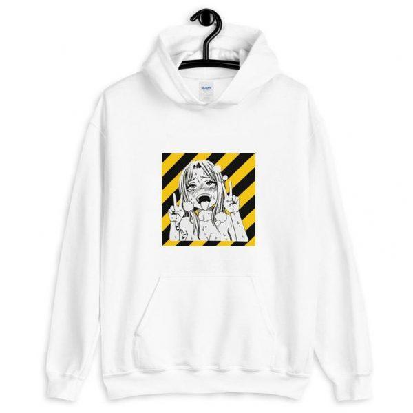 white hentai hoodie - Ahegao Shop